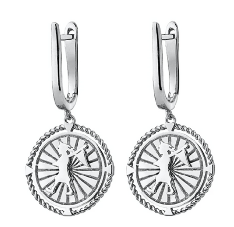 Karen Walker Voyager Earrings, Silver