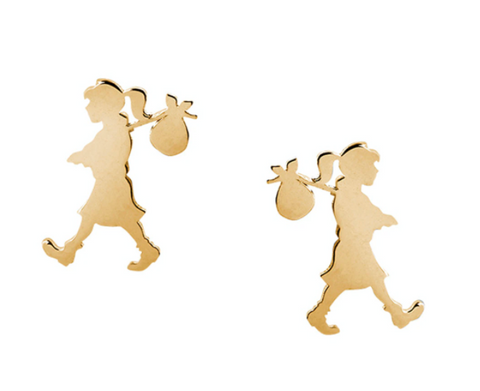 Karen Walker Runaway Girl Studs, 9ct Gold