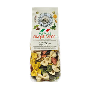 Pasta Farfalle 5 Flavours (Wheat Germ, Spinach, Turmeric, Beetroot & Squid Ink) 250gm