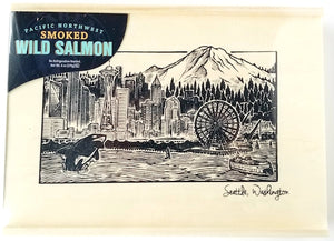 Seabear Smoked Salmon in Seattle Wooden Box - Anacortes, WA