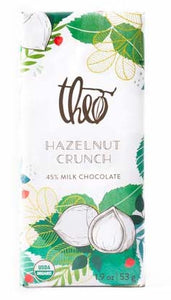 Theo Organic MILK Chocolate Bar 'HAZELNUT CRUNCH' - Seattle, WA
