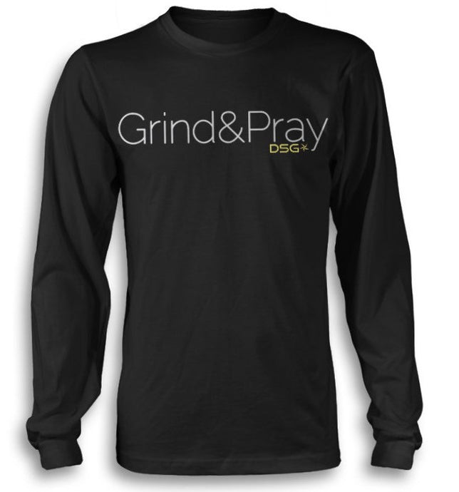 'Grind&Pray' Casual Long Sleeve T-shirt - DSG Apparel Grind&Pray Long Sleeve - Gym Apparel DSG Apparel  - Grind and Pray