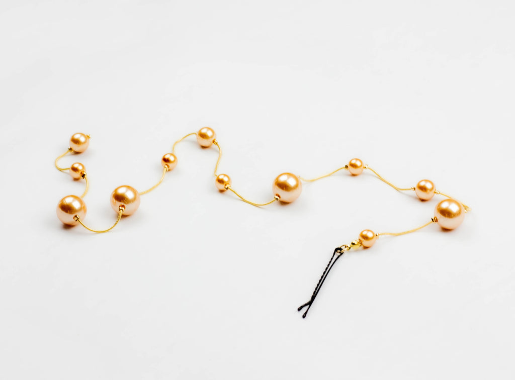 Rose Gold Pearl Spine Pin