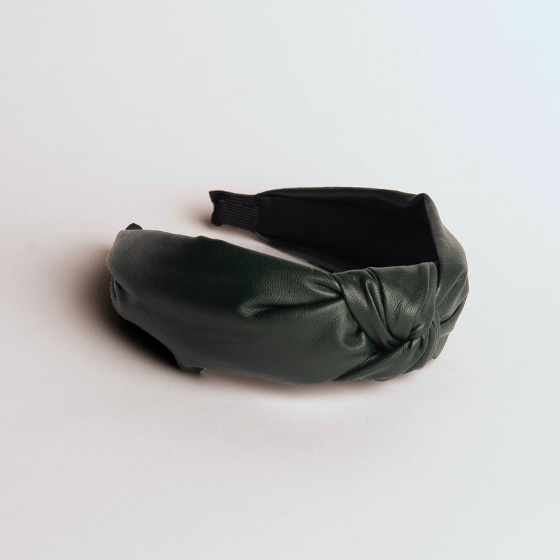 Green Faux Leather Headband