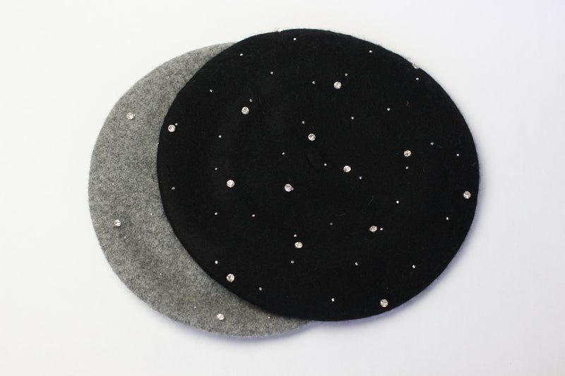 Black Jewelled Beret