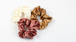 Satin Scrunchie Trio