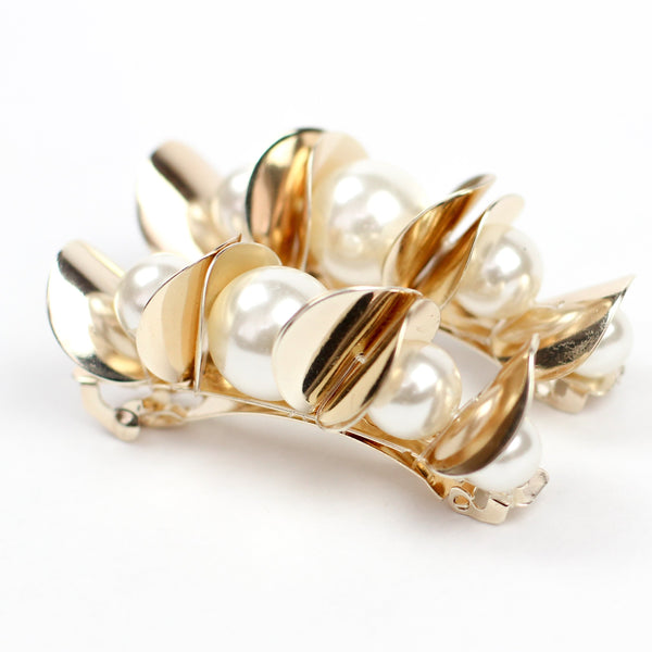 Pearl & Gold Cluster Clip
