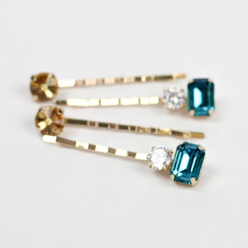 Teal Gemstone Pins