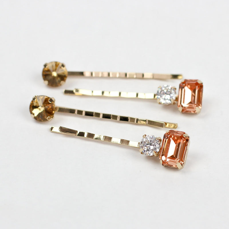 Peachy Gemstone Pins