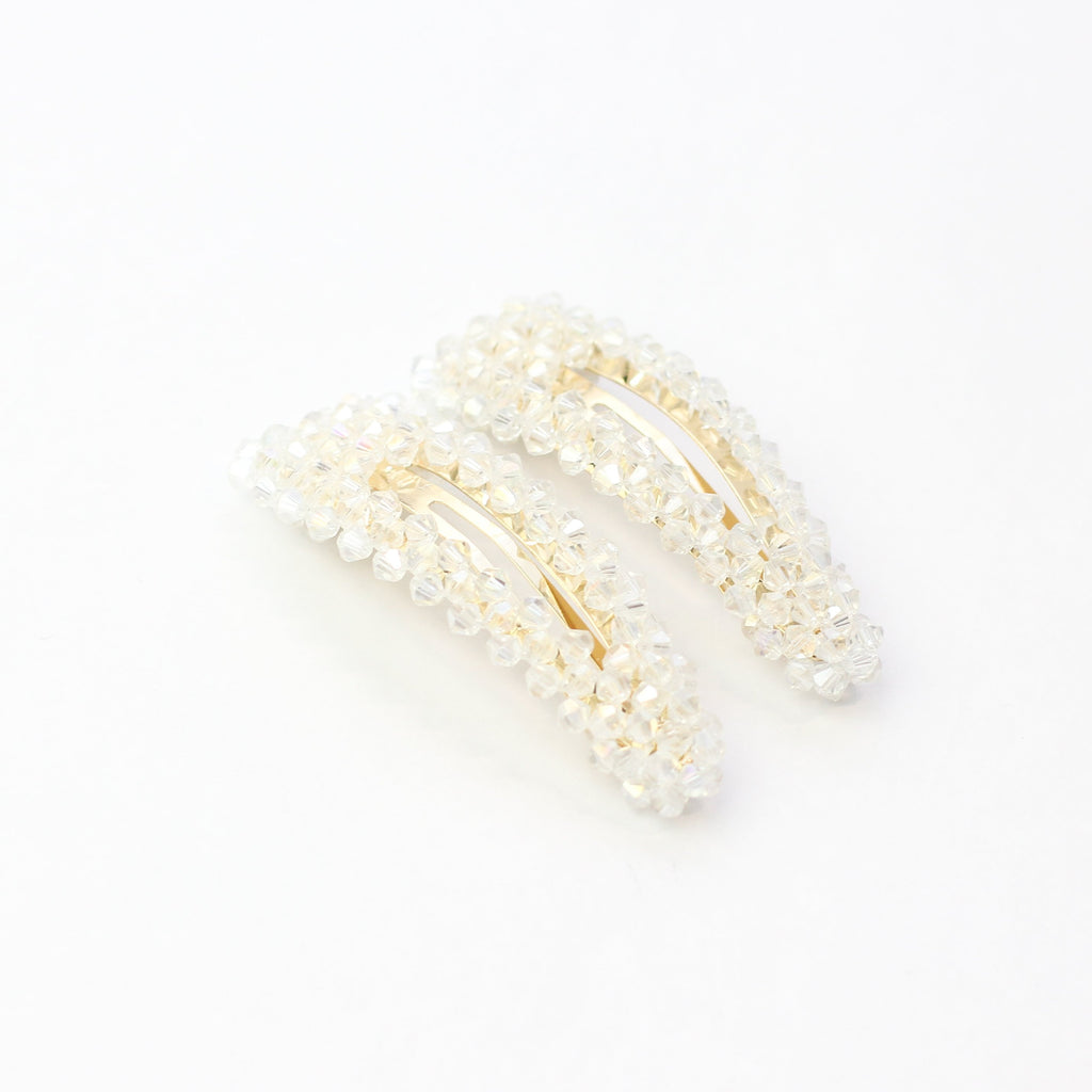 Clear Crystal Clip Set