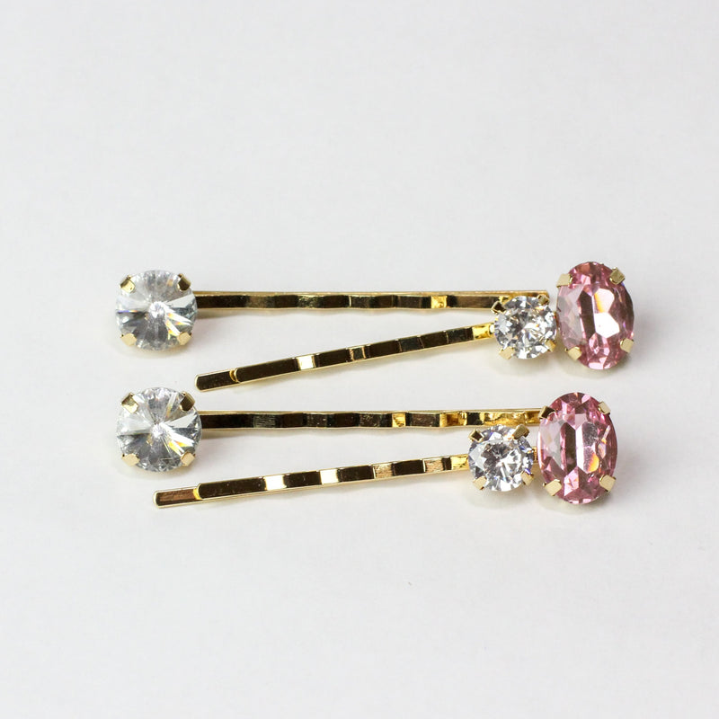 Bubble Gum Pink Gemstone Pins