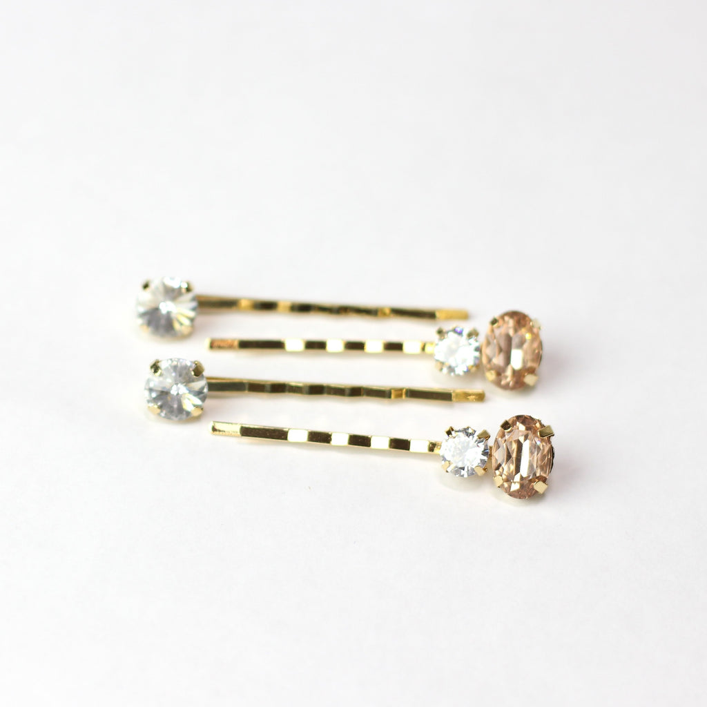 Champagne Gemstone Pins