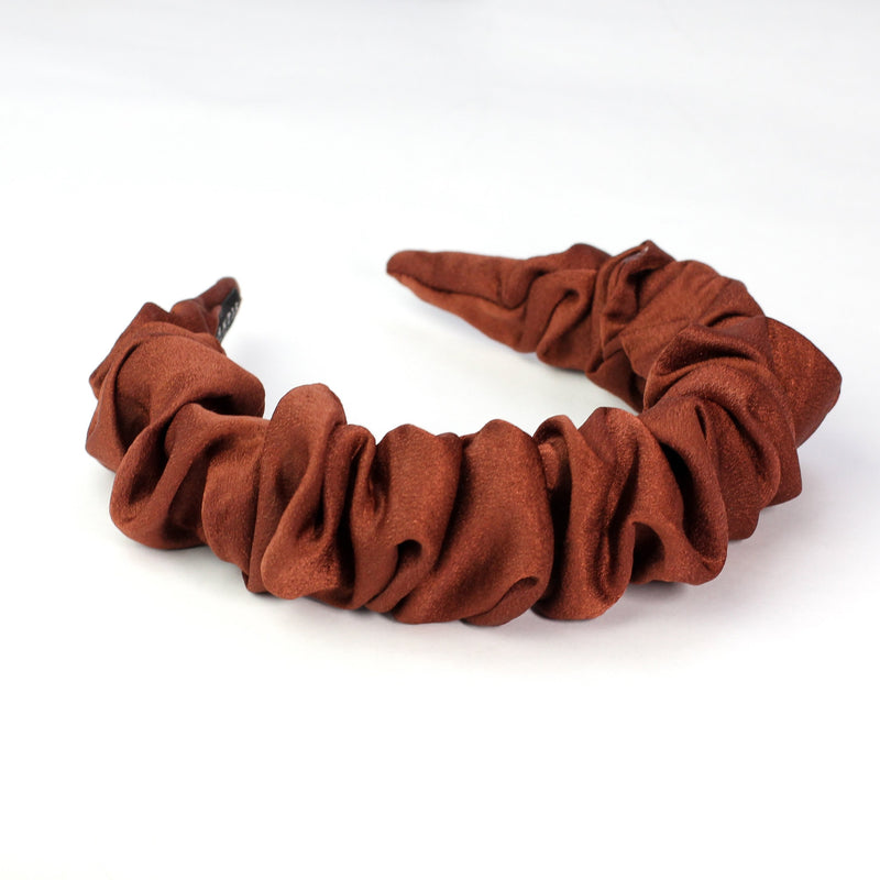 Terra Cotta Ruffled Headband