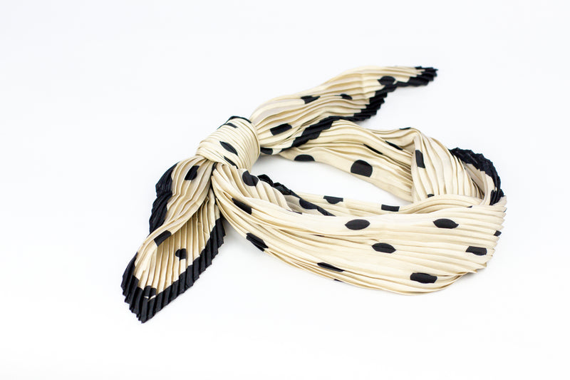 Black + White Polka Dot Scarf