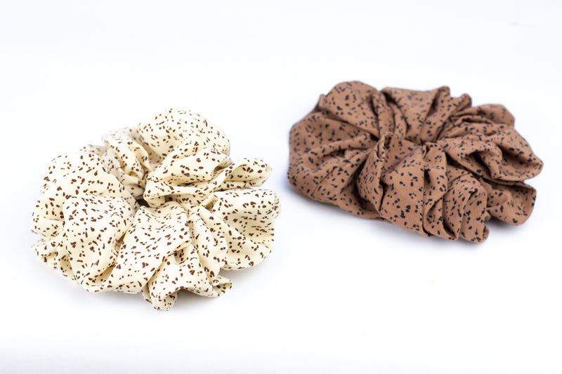 Cream + Terra Cotta Large Scrunchies