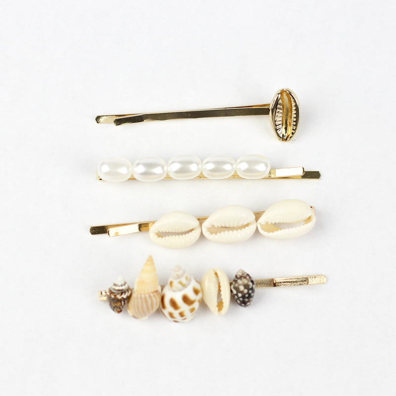 Shell + Pearl Pin Set