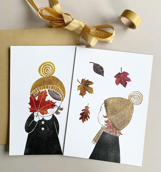 Autumn Girls | set van 2 prints-Print-Lisette Spapens