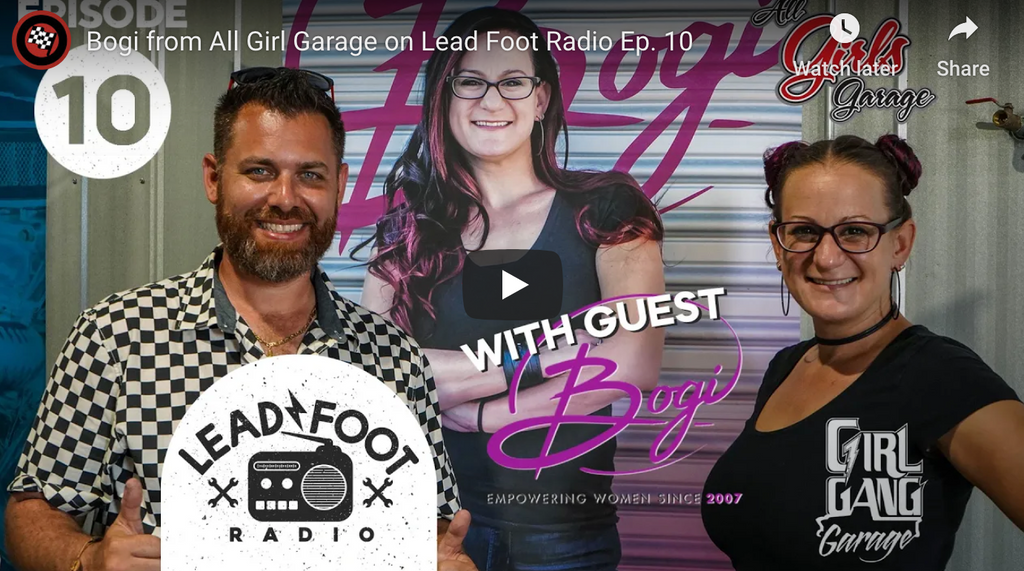 Bogi from All Girl Garage on Lead Foot Radio Ep. 10