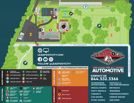 Map of Lead Foot City Grounds