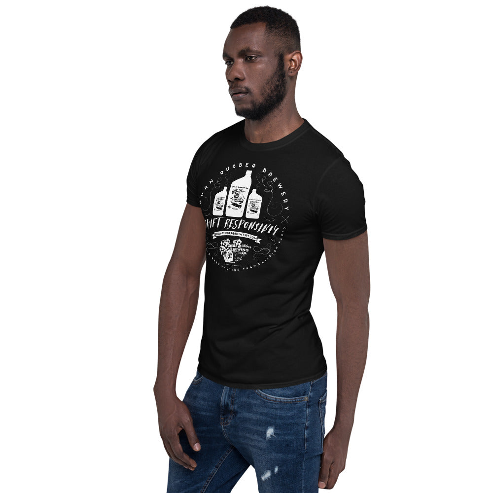 "Burn Rubber Brewery ""Crafted"" Unisex T-Shirt"