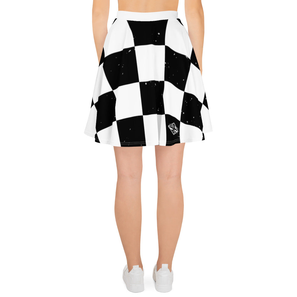 Lead Foot City Checkered Skater Skirt