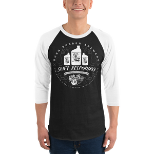 "Burn Rubber Brewery ""Crafted"" Baseball Tee"