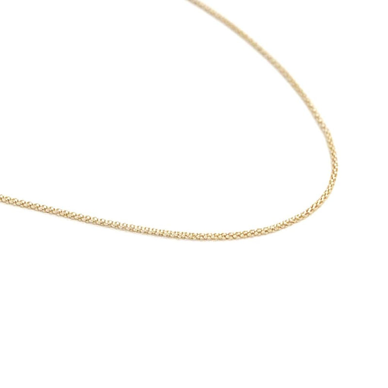 14K Gold Filled Textured Chain Necklace