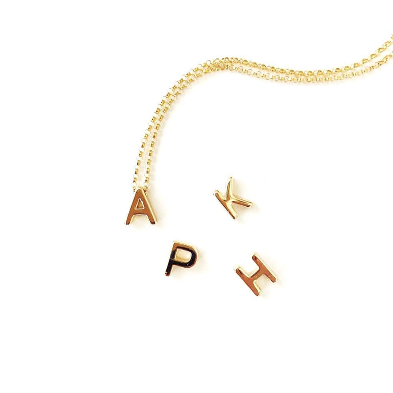 Gold Filled Letter Necklace