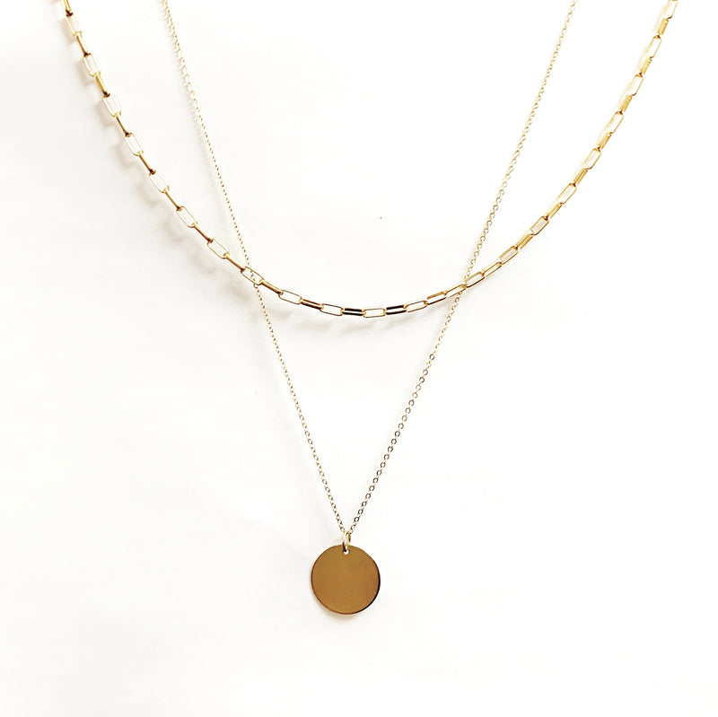 14K Gold Filled Layering Necklace Set
