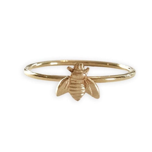 14K Gold Filled Bee Ring