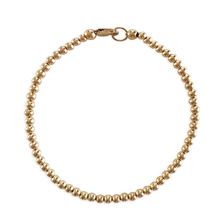 14K Gold Filled Bead Bracelet