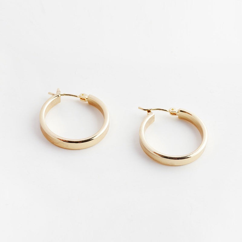 18K Gold Filled Chunky Hoops