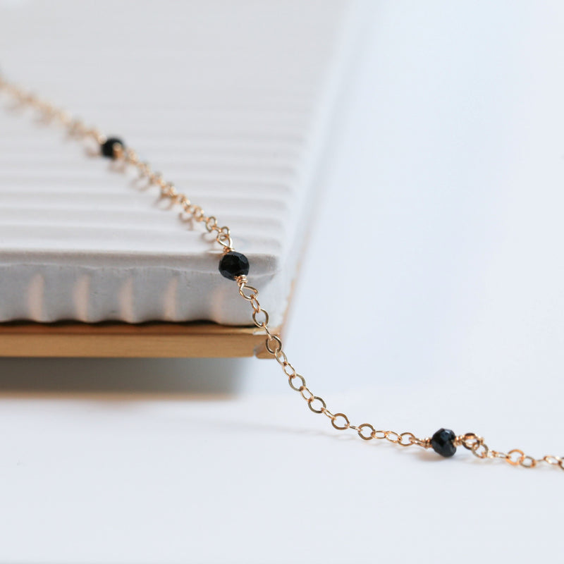 Black Stone Zoe Necklace