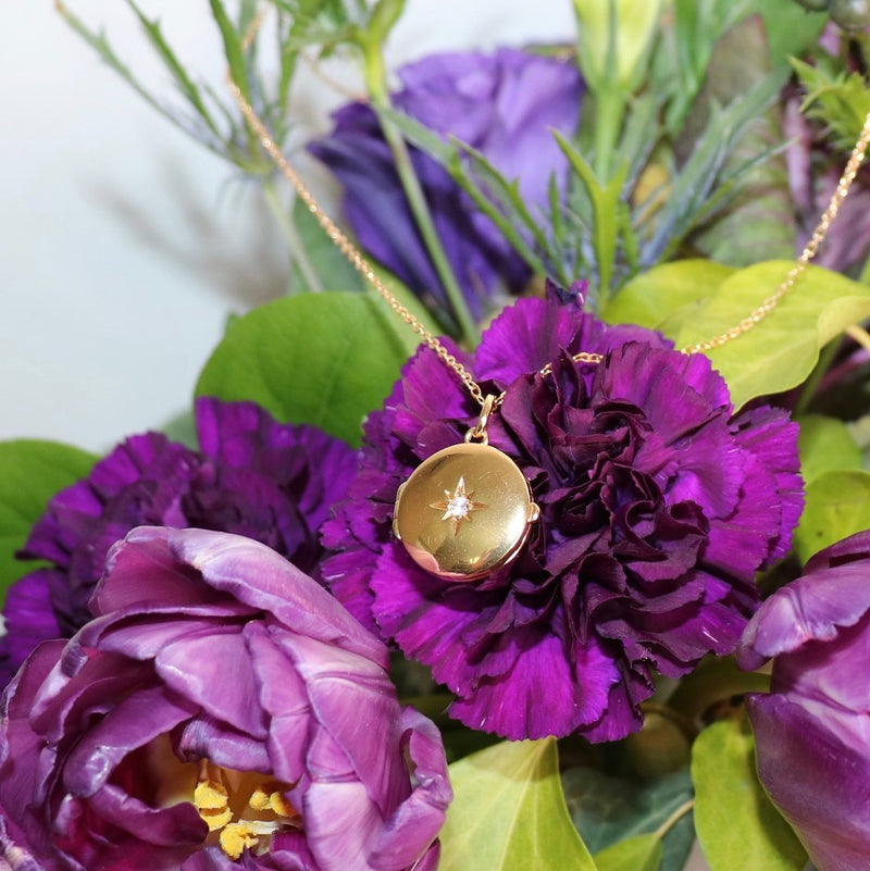 18K Gold Filled Crystal Locket