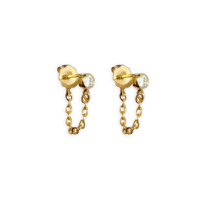 14K Gold Filled Chain Earring