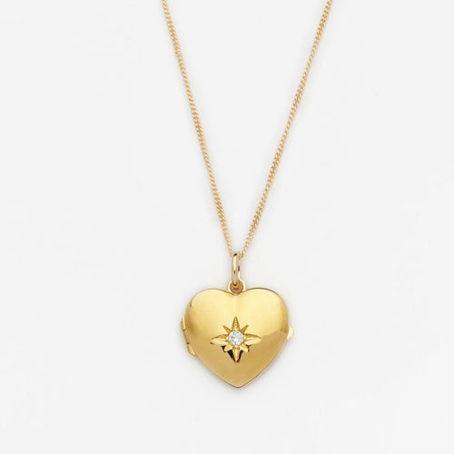 18K Gold Filled Heart Locket