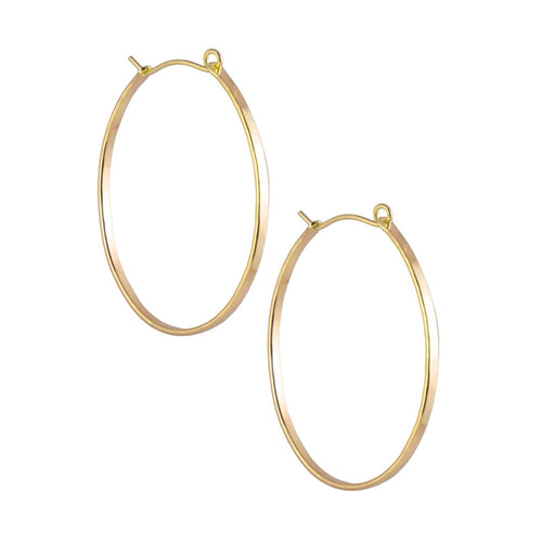 14K Gold Filled Oval Hoop