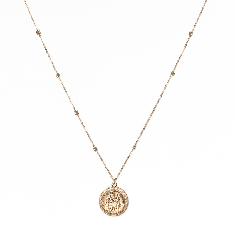 14K Gold Filled San Cris Coin Necklace