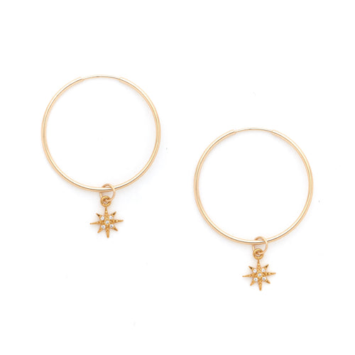 14K Gold Filled Starburst Earrings