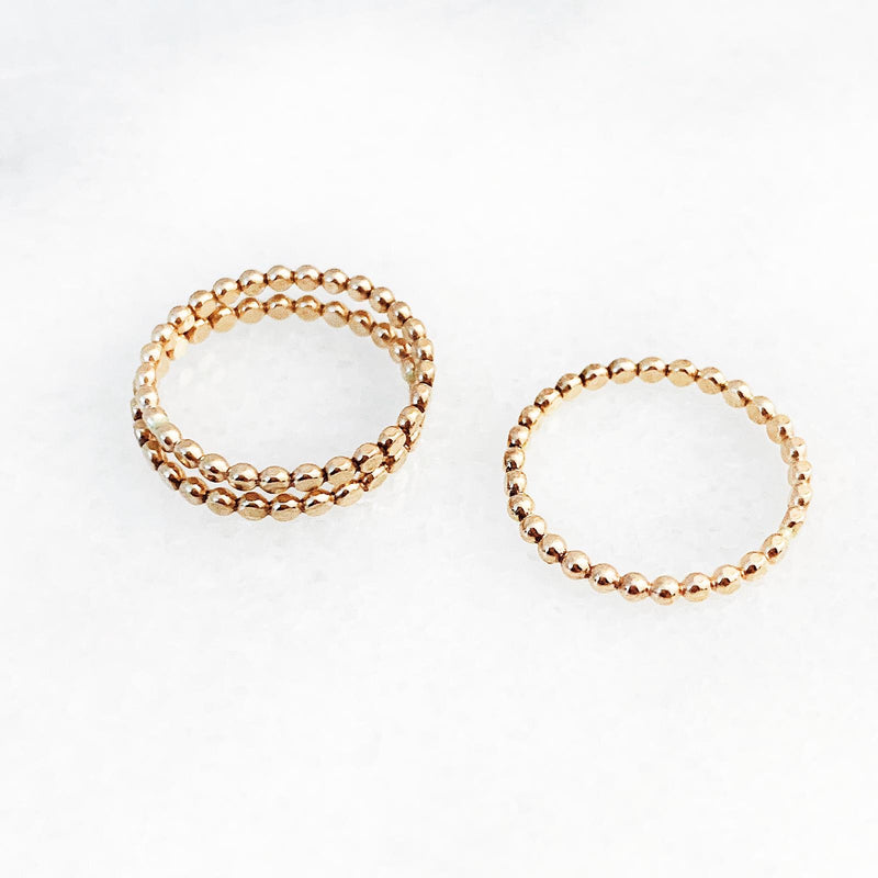 14K Gold Filled Dot Ring