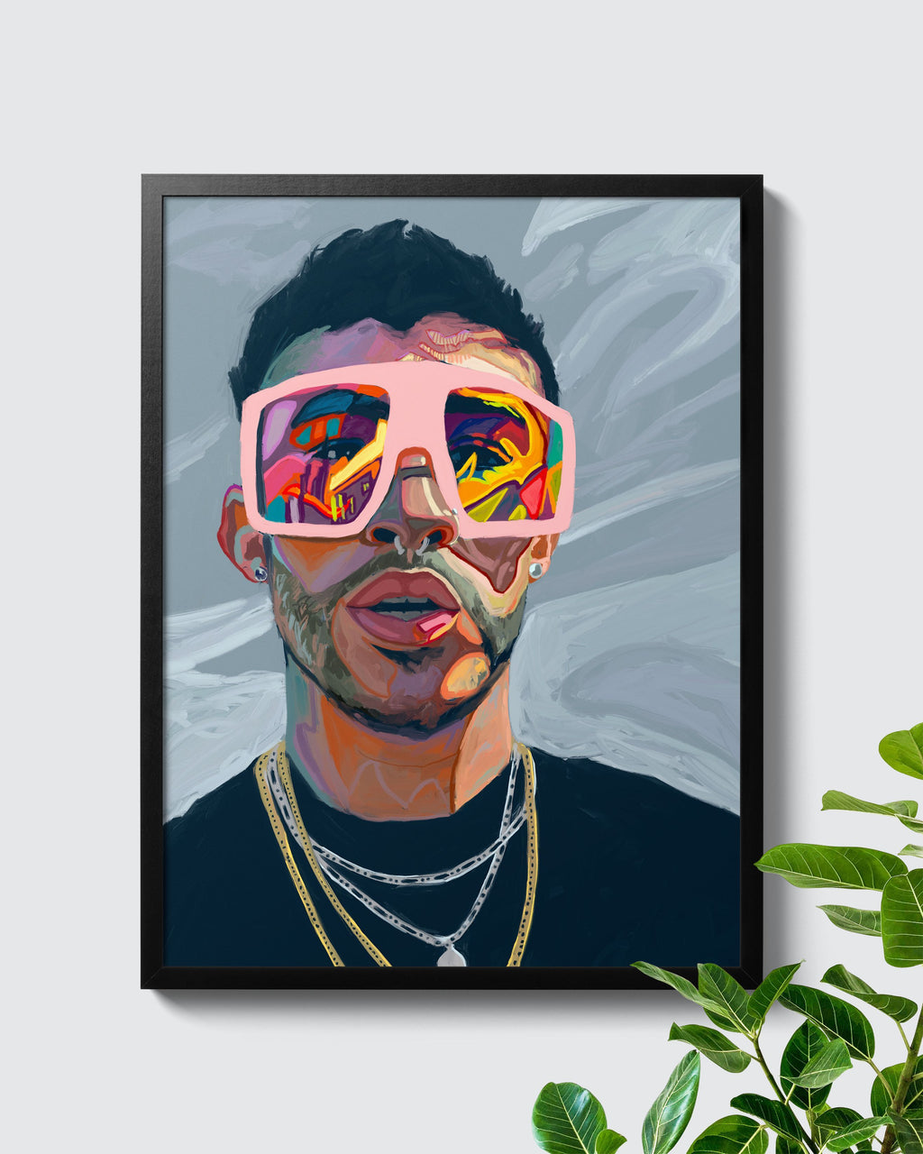 Colourful Bad Bunny YHLQMDLG Poster - Nashid Chroma