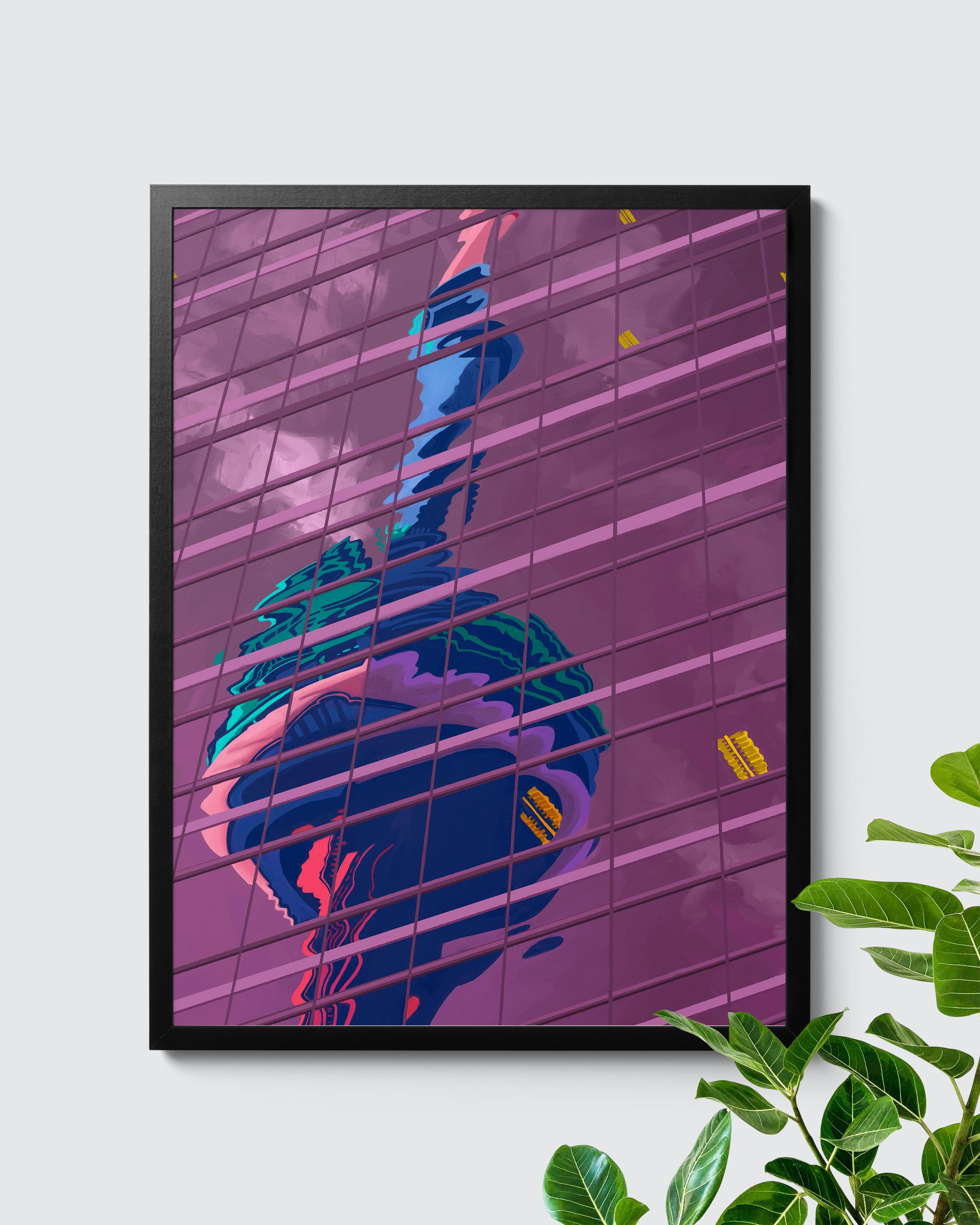 Multi Coloured CN Tower Toronto Poster - Nashid Chroma