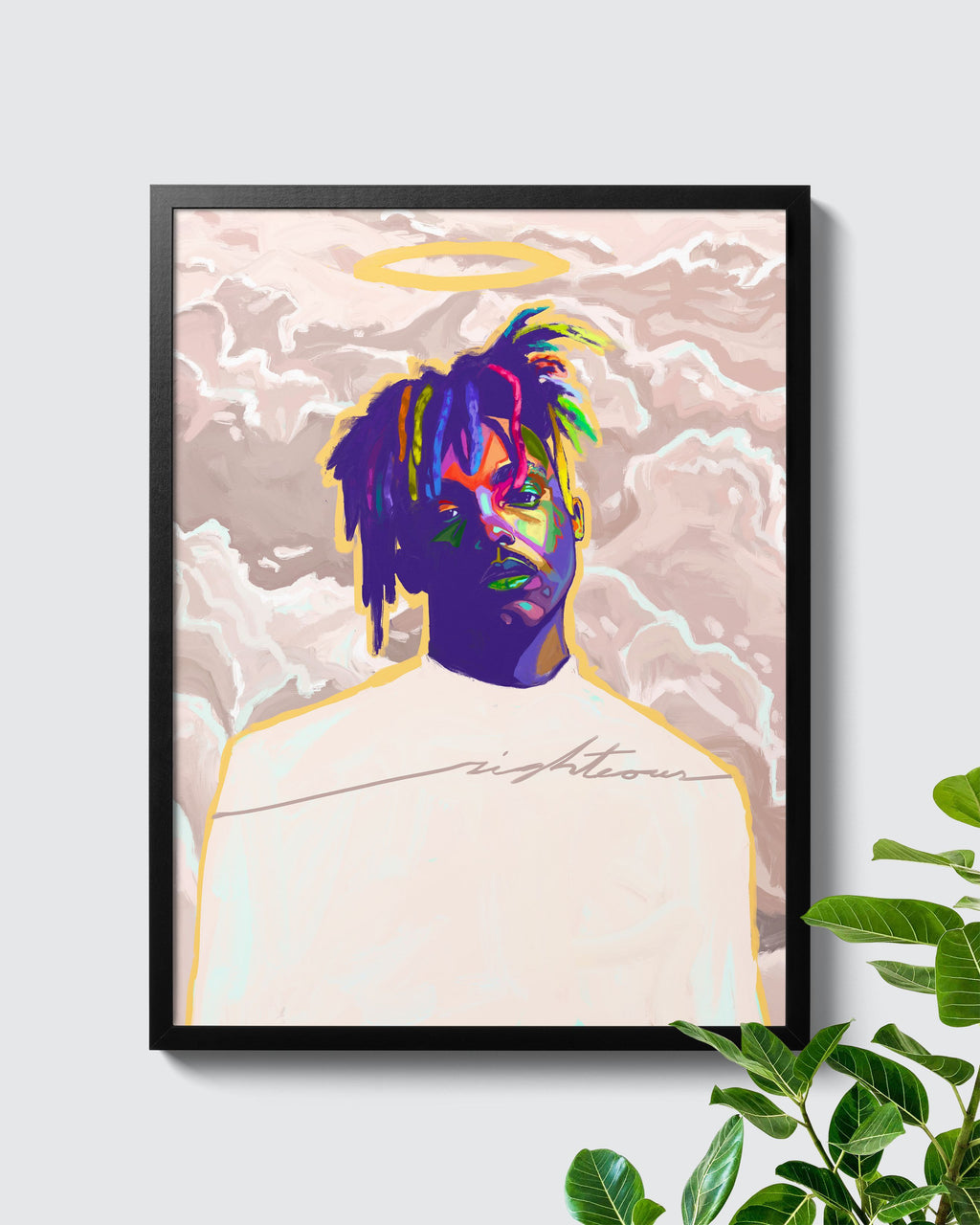 Juice WRLD Righteous Tribute Poster - Nashid Chroma