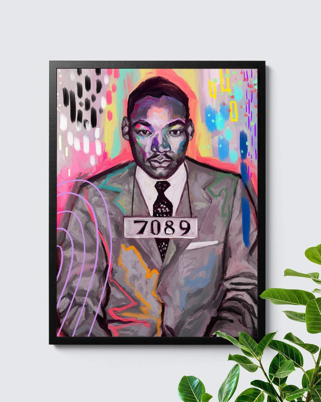 Martin Luther King Black Lives Matters Mugshot Painting - Nashid Chroma