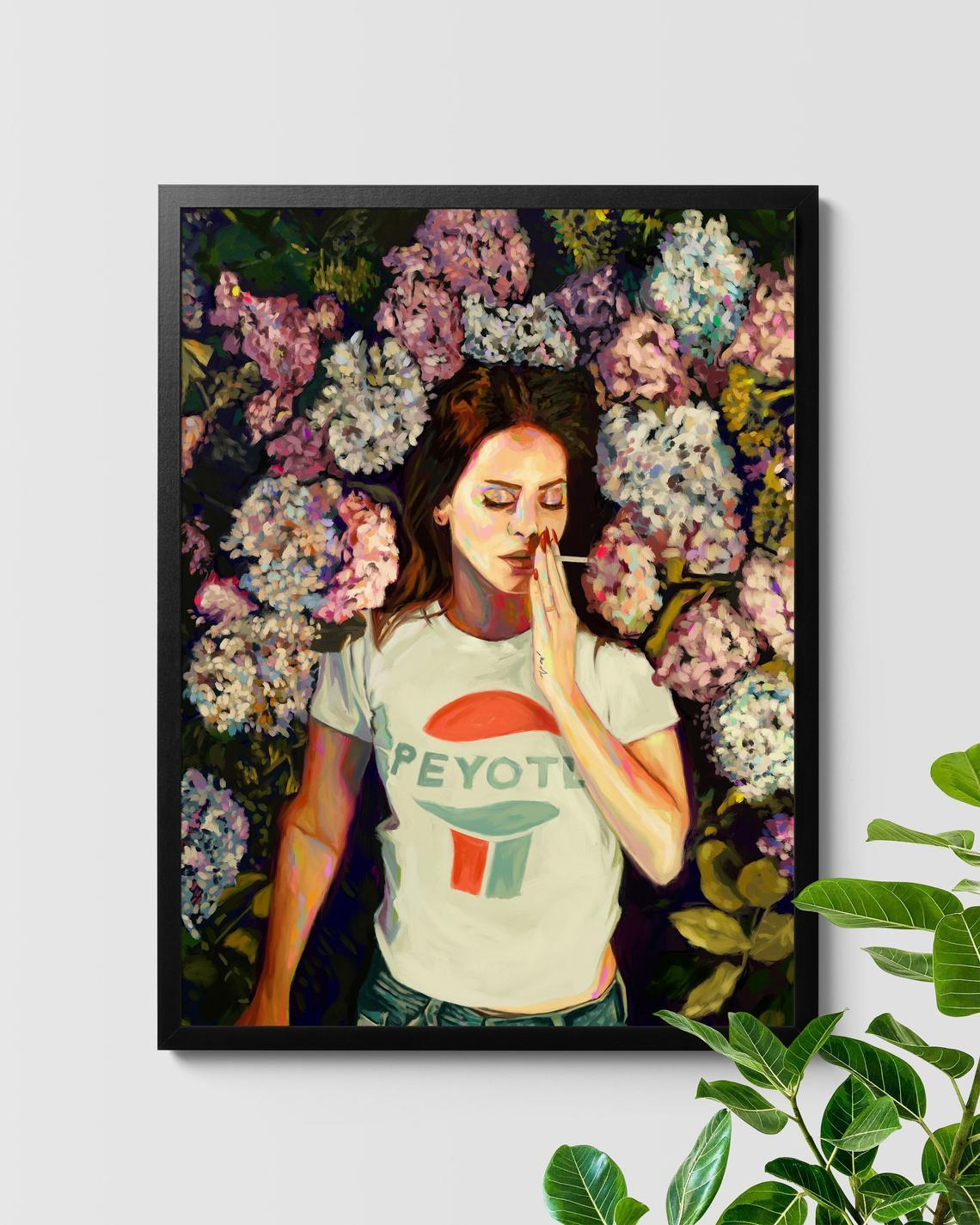 Lana Del Ray Born to Die Floral Painting Nashid Chroma