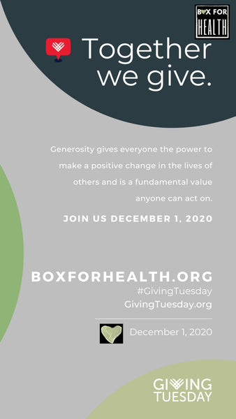 GivingTuesday- Join Box for Health to Make a Difference Today