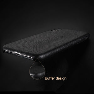 Croc Leather iPhone Cover - JustBlackCo