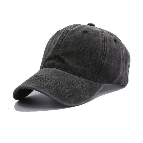 Faded Denim Baseball Cap - JustBlackCo