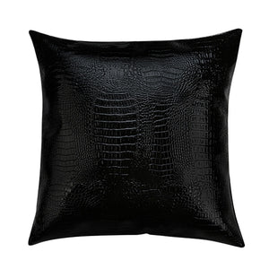 Faux Leather Pillow - JustBlackCo