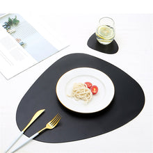 Load image into Gallery viewer, Leather Placemat Set - JustBlackCo